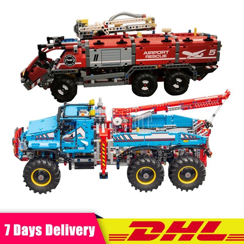 DHL 2018 nouvelle série Lepin Technic ensemble 20055 + 20056 enfants blocs de construction éducatifs briques jouet Clone 42070 42068 2 pièces