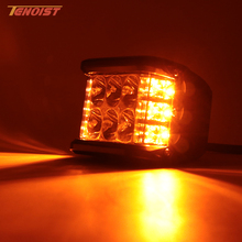 4 Inch LED White Amber Headlight Fog Warning Flash Light For Wrangler Offroad Motorcycle SUV 4