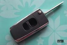 CYCTEM Car Flip Key Case Shell 2 Buttons Modified Flip Folding Remote Key Blank Cover Fit For Mazda M3, M6