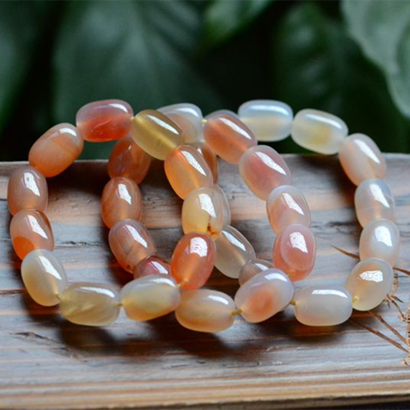 Natural Red Agate Chalcedony Translucent Bracelet Hand Carved Jewelry Gifts WholesaleNatural Red Agate Chalcedony Translucent Bracelet Hand Carved Jewelry Gifts Wholesale