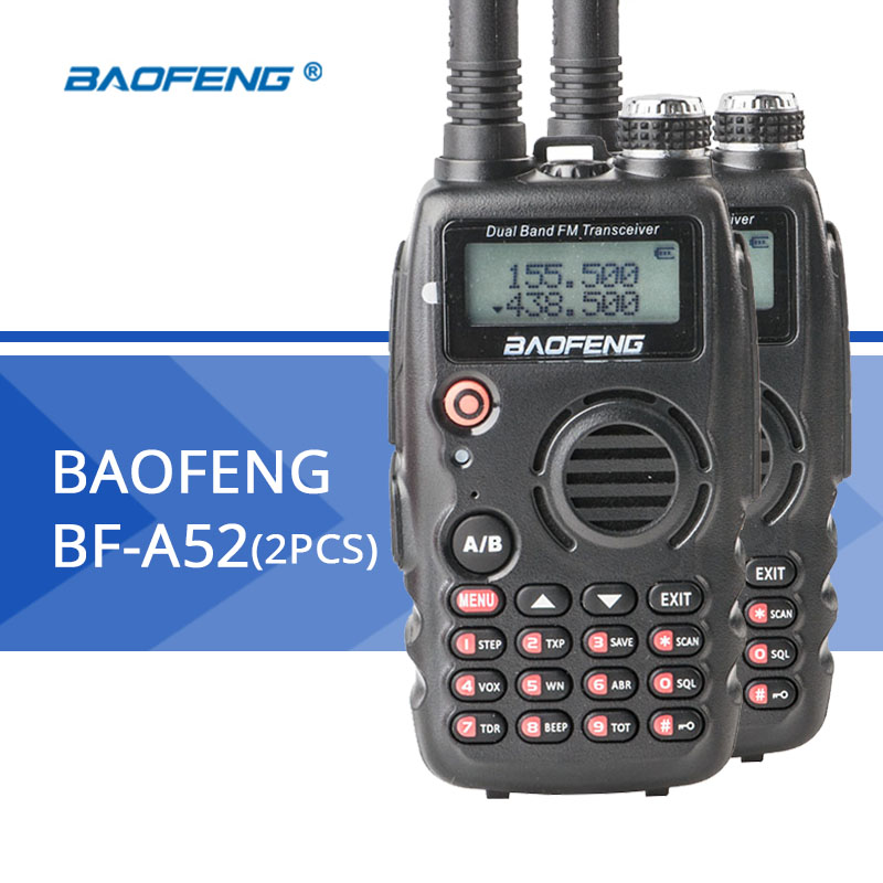 2 pz BaoFeng walkie talkie BF-A52 senza fili a lungo raggio radio Portatile Professionale CB radio VOX Funzione baofeng Radio2 pz BaoFeng walkie talkie BF-A52 senza fili a lungo raggio radio Portatile Professionale CB radio VOX Funzione baofeng Radio
