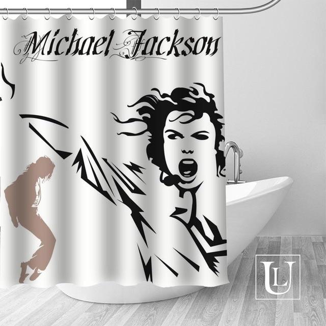 18 Shower Curtain Michael jackson shower curtain jackson galaxy 5c64f7a44ec73