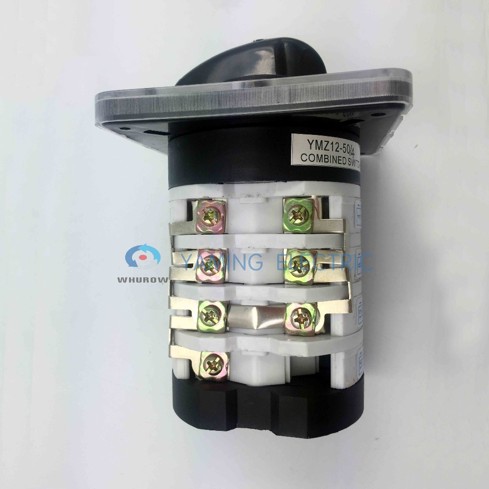 medium resolution of manufacturer 0 7 position switch rotary switch 50a 4 pole universal changeover cam switch silver contact
