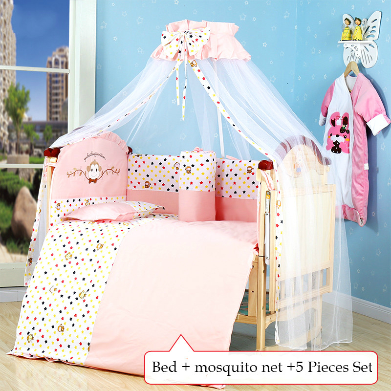 Multi-functional Eco-friendly baby crib solid wood non-paint infant bed child game entertainment cradle bed with large shelf