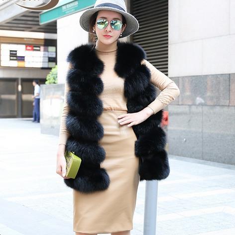 Bright 2019 Lady Women Fox Fur Vests Sleeveless Winter Waistcoat 2019 Thicken Warm Fox Mink Fur Overcoat Plus Size Clothing Wr745 Women's Clothing