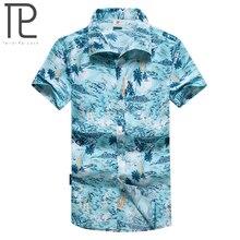 Tailor pal meilė vyrai paplūdimio marškiniai vasaros vyrai trumpos rankovės marškinėliai gėlių atspausdintas paplūdimio drabužiai daugiau plius dydis M-5XL