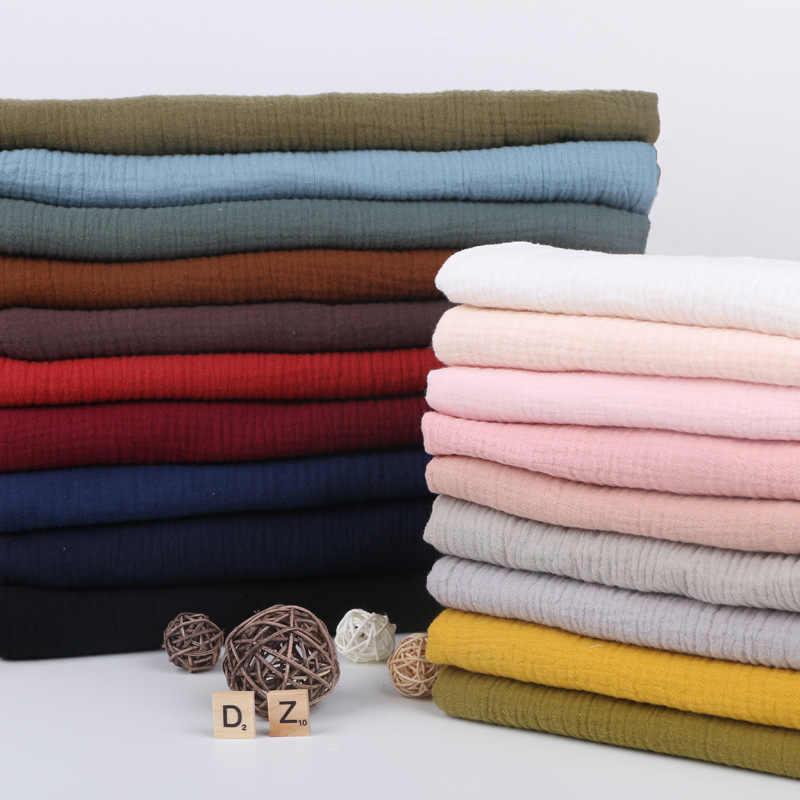 135 センチメートル x 50 センチメートル高品質ソフト薄型ダブルクレープテクスチャ綿生地、シャツ、ドレス、下着、パジャマ布 160 グラム/メートル