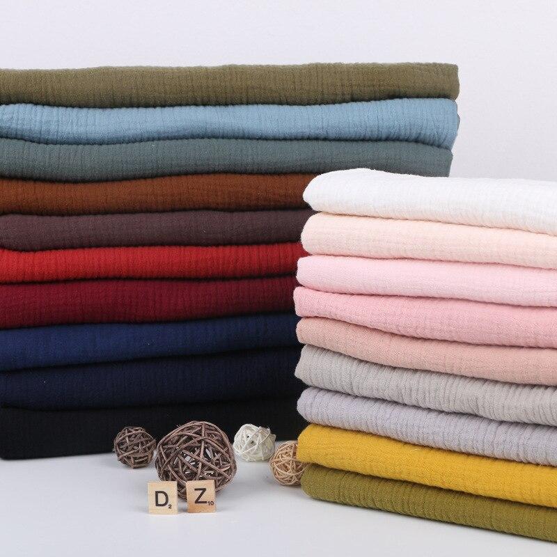 Высококачественная мягкая тонкая хлопковая ткань с двойной крепированной текстурой 135 см x 50 см, рубашка, платье, нижнее белье, пижамная ткан...