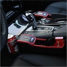 Новейшая боковая коробка для хранения автомобильных сидений, органайзер для автомобильных сидений из искусственной кожи, держатель для монет, держатель для чашки, автомобильный стиль