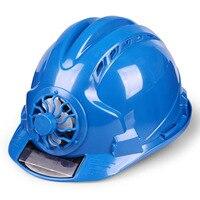 الشمسية مروحة قوية خوذة في الهواء الطلق سلامة العمل الصلب قبعة البناء مكان العمل ABS المواد غطاء رأس واقي مدعوم من لوحة طاقة شمسية