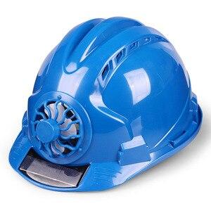 Image 1 - Güneş elektrikli fan Kask Açık Çalışma Güvenliği Baret Inşaat Işyeri ABS malzeme koruyucu bone tarafından Desteklenmektedir GÜNEŞ PANELI
