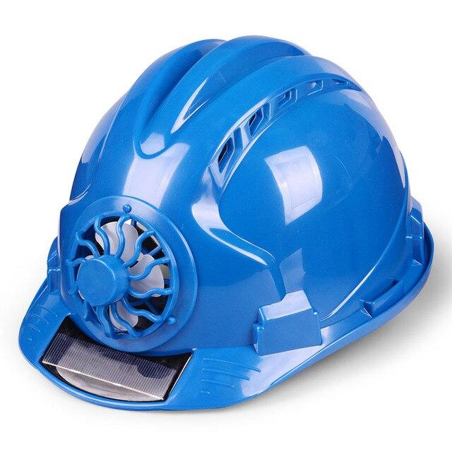 Güneş elektrikli fan Kask Açık Çalışma Güvenliği Baret Inşaat Işyeri ABS malzeme koruyucu bone tarafından Desteklenmektedir GÜNEŞ PANELI