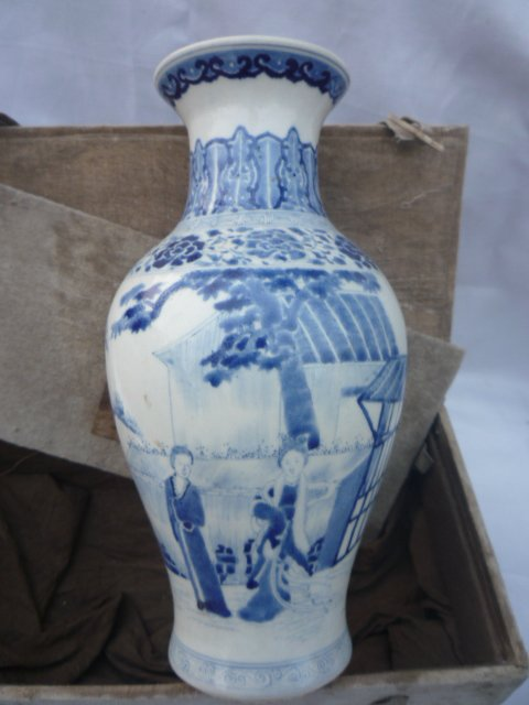 kolekcija Qing dinastijos mėlynos ir baltos porceliano vaza (Pekino - Namų dekoras - Nuotrauka 2