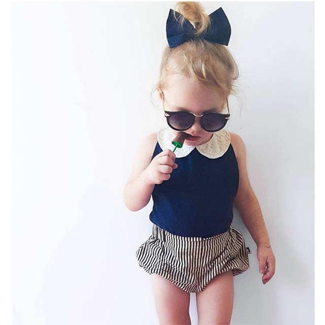 892f80032 Online Shop Toddler Kids Baby Girls Clothes Sets 2pcs Summer Beach ...