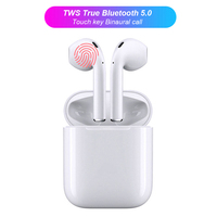 CASPTM New i12 tws Headset Touch Control Microphone Bluetooth 5.0 Wireless Earphones with Charging Box Case for Phone