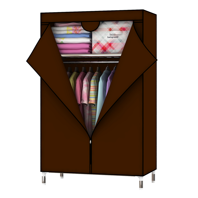 Bedroom Furniture Oxford Cloth Cabinets Bold Reinforcement Steel Pipe Closet DIY  Storage Finishing Size: L88 * D45 * H160cm simple fashion moistureproof sealing thick oxford fabric cloth wardrobe rustproof steel pipe closet 133d