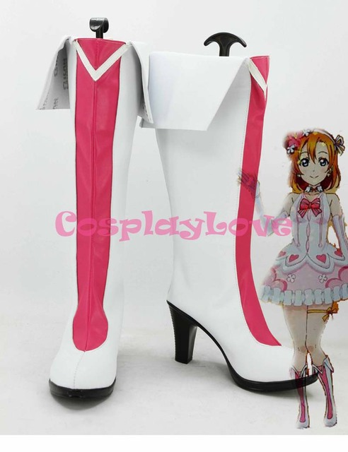 Newest Custom Made Japanese Anime Lovelive! Kousaka Honoka Theater Cosplay  Shoes Boots For Halloween Christmas