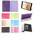 Чехол для ipad mini 1 2 3, Tri-fold смарт обложка Цвет Ультра Тонкий PU Кожа Прозрачная Задняя крышка для iPad mini 1 2 3