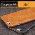 "Qualidade da marca Mofi caso retro para Apple iphone 6 s de couro PU + material do PC de volta caso capa para o iphone 6 4.7"""