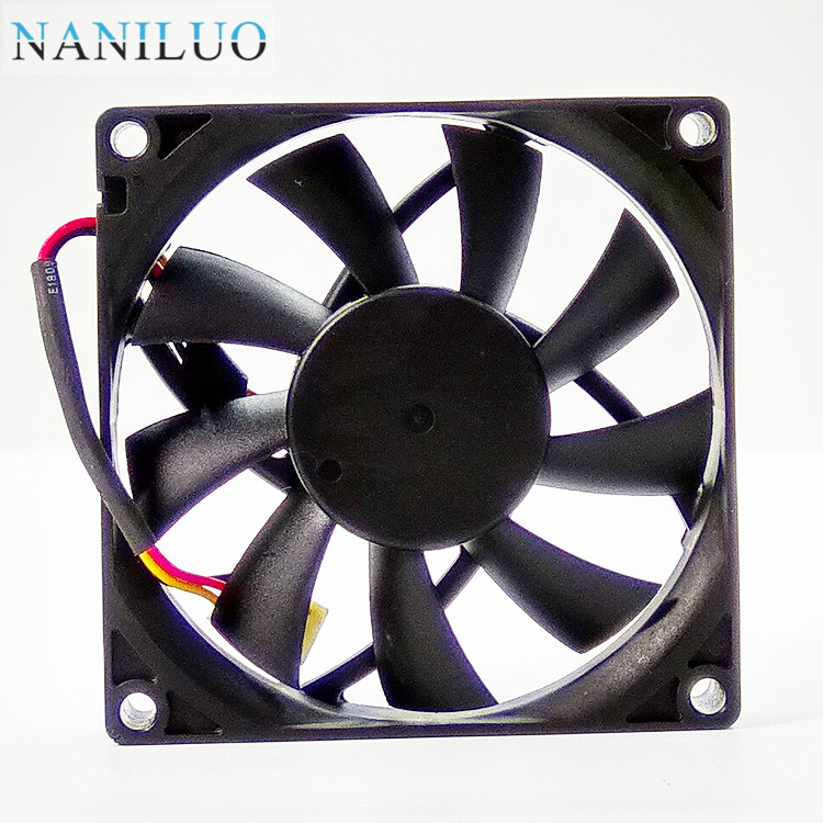 MGT8012HF-015 DC12V 0.18A 8015 8cm 80mm <font><b>80x80x15</b></font> 3Pin 3Wire Cooling <font><b>Fan</b></font> image