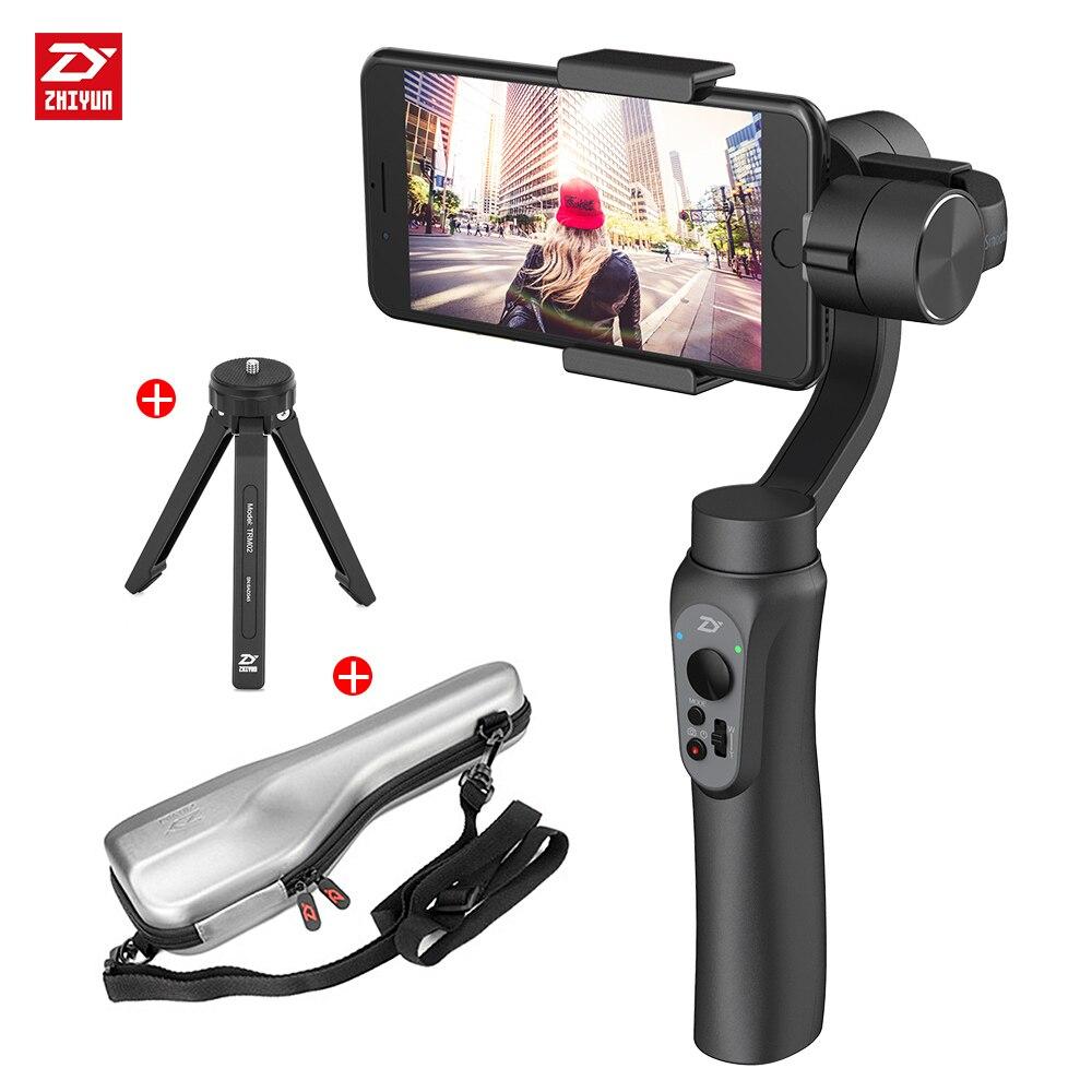 Zhi yun Zhiyun Officielle Lisse Q 3-Axis De Poche Cardan Stabilisateur Stabilisateur de Téléphone pour iPhone 8 X pour Samsung Huawei Xiaomi
