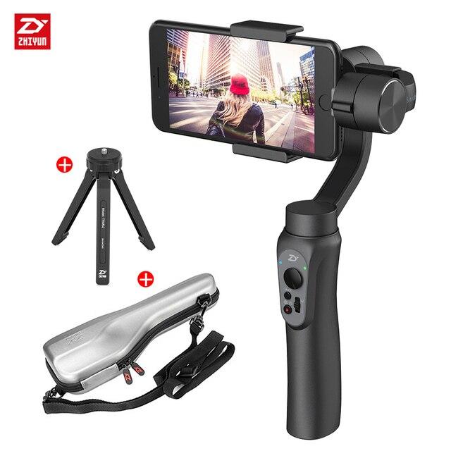 Чжи Юн Zhiyun официальный гладкой Q 3 оси Ручные стабилизаторы стабилизатор телефон стабилизатор для iphone 8 X для Samsung Huawei xiaomi