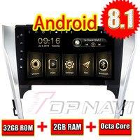 Автомобильные книг для Toyota CAMRY 2012 2013 2014 Android 8,1 10,1 ''Topnavi автомобиля ГПД навигации Plug & Play аудио бесплатную карту