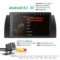 Hizpo 9 дюймов 1024x600 HD Сенсорный экран 1 din Android 8,1 Автомобильный мультимедийный Радио стерео для BMW E39 E53 X5 Wi Fi 4G Bluetooth dvd плеер RDS