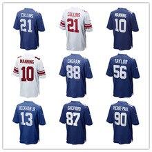 Men s Odell Beckham Jr Landon Collins Eli Manning Evan Engram Lawrence  Taylor Custom Giants Game Jerseys f00bc5a9c