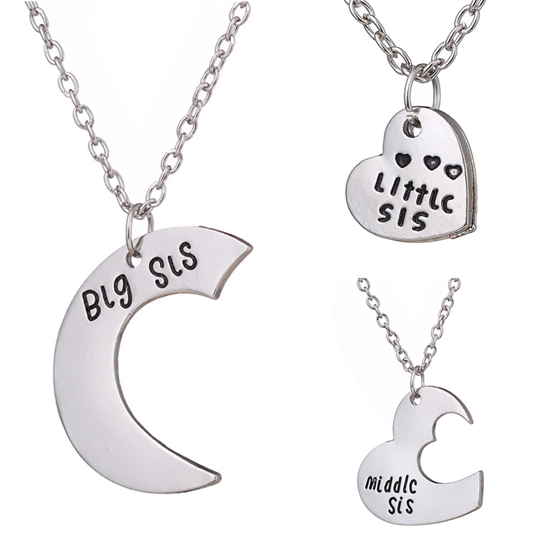 New arrival <font><b>3</b></font> pcs/set <font><b>Necklaces</b></font> <font><b>BFF</b></font> Best <font><b>Friends</b></font> Forever Gift