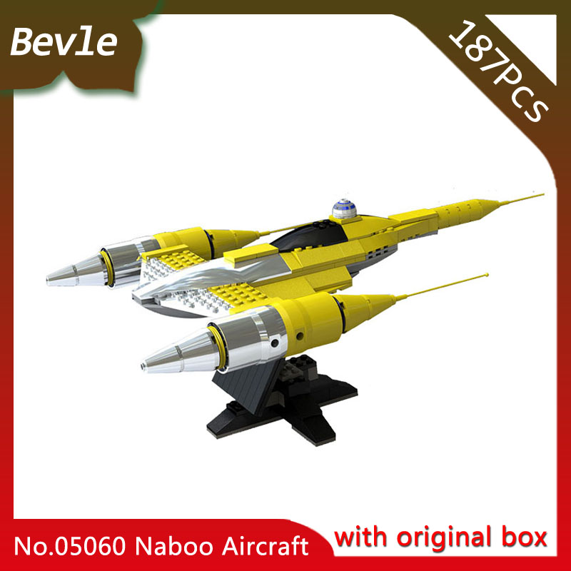 Bevle Store LEPIN 05060 187Pcs with original box Star Wars Series Naboo Star Fight Model Building
