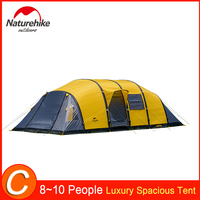 Naturehike 4/6/8/10 Person Cabin Tent Large Family Tents Friends Party Gathering Shed Shack Weatherproof Large Space Car Camping