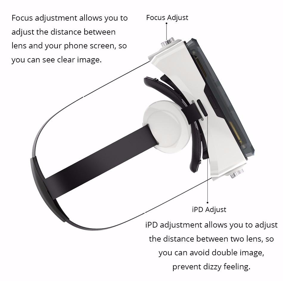 Original BOBOVR Z4 mini 3D VR glasses virtual reality google Cardboard Helmet Headset Stereo BOBO VR BOX for 4-6'' Mobile Phone 16