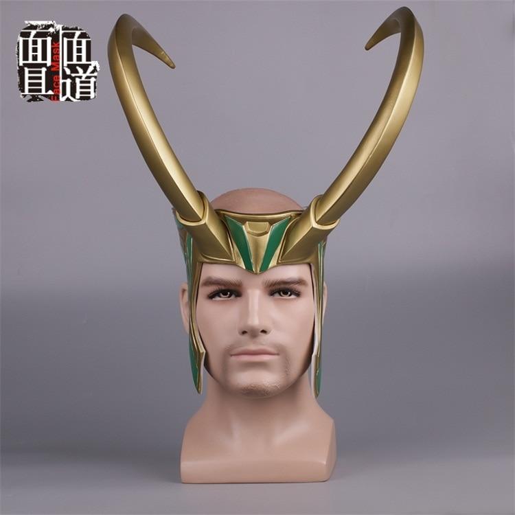 2017 Movie Thor 3 Ragnarok Loki Laufeyson PVC Cosplay Costumes Mask Helmet Halloween Prop