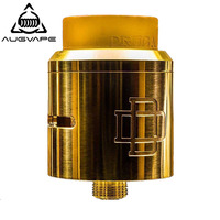 Augvape Druga RDA Atomizer Tank 24mm Clamp Snag System Massive Post Holes for DIY Coil Gold Plated Deck Electronic Cigarette RDA