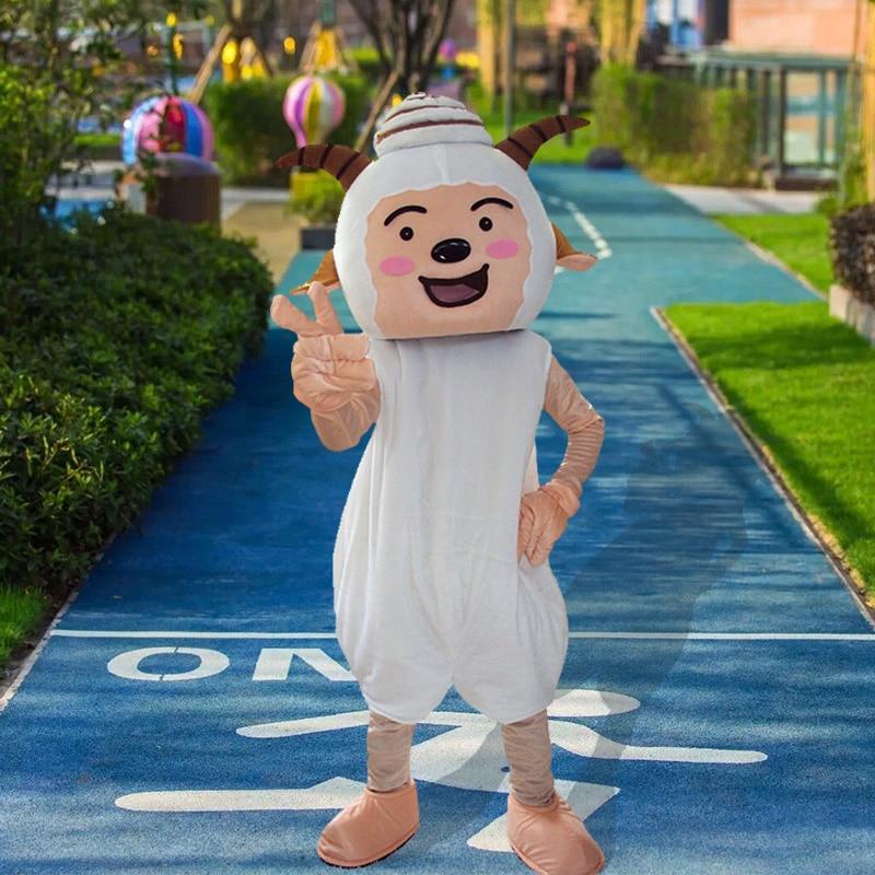 Mouton mascotte Costume costumes Cosplay partie jeu robe tenues vêtements publicité carnaval Halloween noël pâques Festival adultes - 4