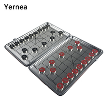 Yernea New Magnetic Chinese Chess Set Foldable Board Games Portable Game 29*23 CM Entertainment Gift