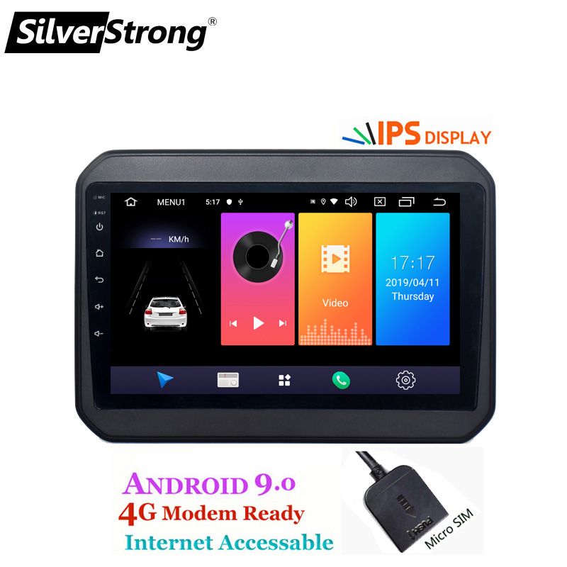 SilverStrong 4G SIM Modem Car Android dvd player for SUZUKI IGNIS ignis 9 inch gps navigation