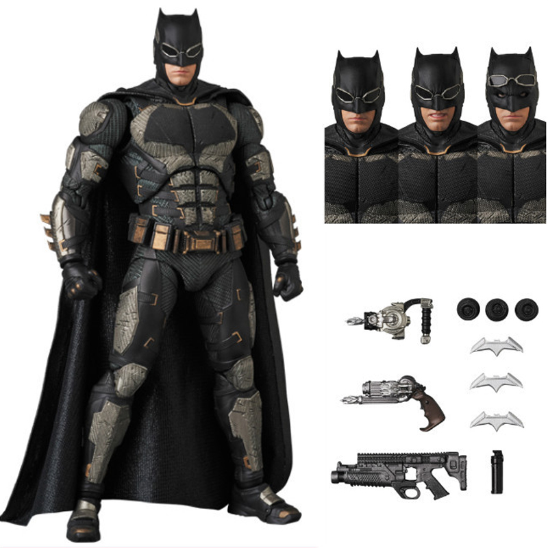 MAFEX 056 Batman Tactical SUIT Ver. The Dark KNight DC Justice League Action Figure Collectible Model Toy 16cm