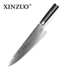 XINZUO HIGH QUALITY 9 5 inch chef knife Damascus kitchen knife woman chef knife with Japanese