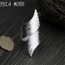Fyla Mode 999 Sterling Silver Jewelry Index Finger Ring Opening Thai Silver Ring For Women Width 47mm Weight 13.50g WT051