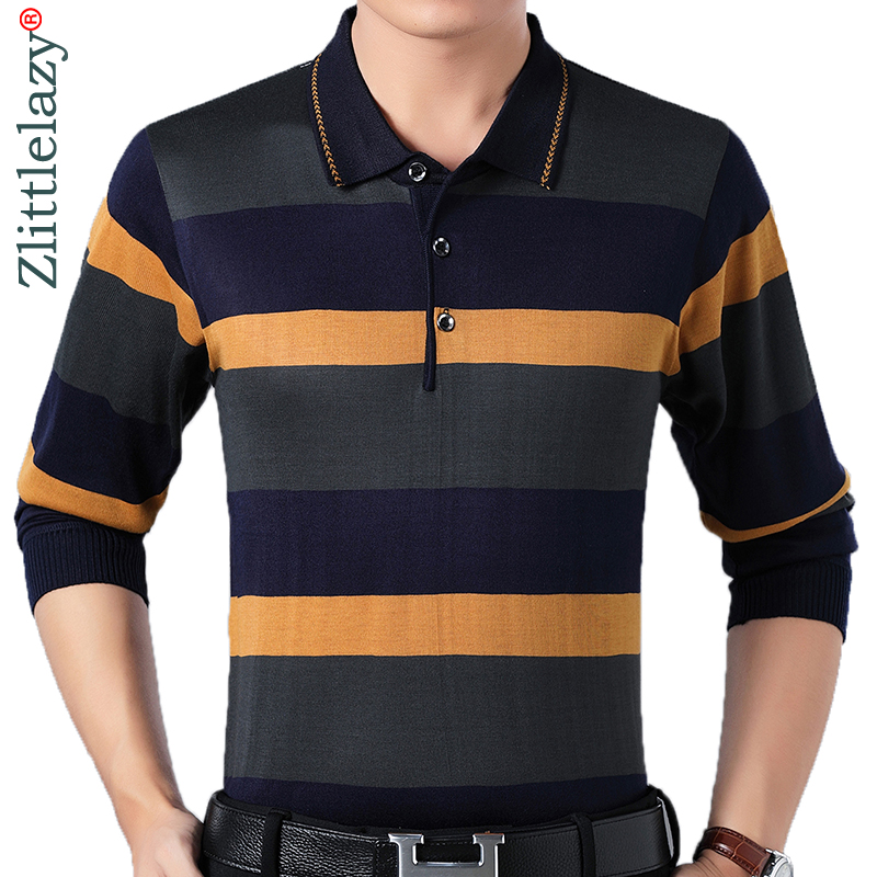2018 designer brand long sleeve slim fit   polo   shirt men casual jersey striped mens   polos   vintage luxury quality tee shirt 56813