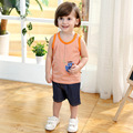 2016 Summer Children's Sets 2-Piece Boy's Girl's Vest + Short Pants Kids Tops Shorts Baby Suits Child Clothing Set