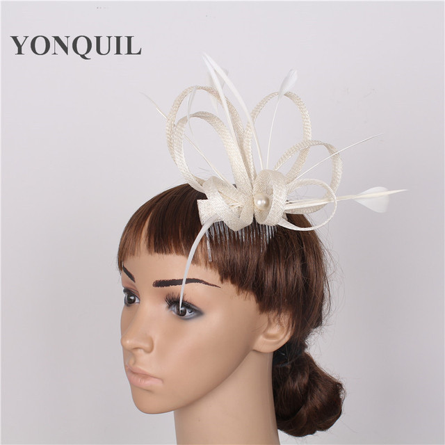 dcd83c33c83 Free shipping 17colors avaliable sinamay fascinator hats good bridal hats  red kentucky cocktail hat nice Summer hat 3pcs pvc box