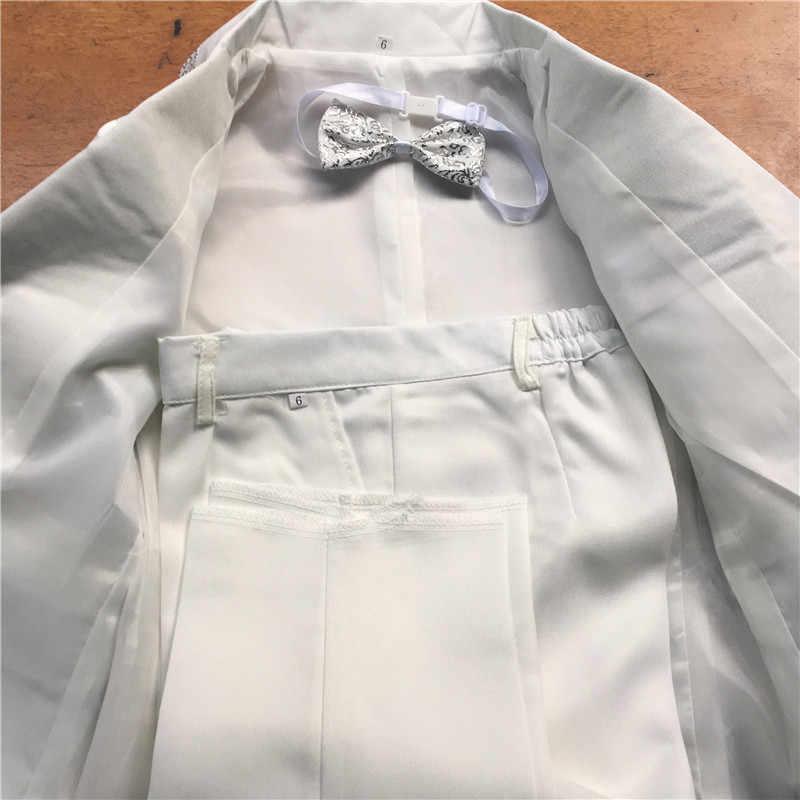 Trai Kids Phù Hợp Với Tuxedo 2018 Trẻ Em Trang Phục Cậu Bé Wedding Coat Quần Tie 3 cái/bộ Kích Thước Từ 80 cm-155 cm Cho 2-12 Năm