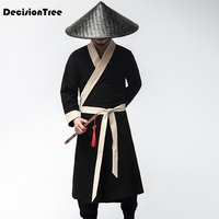2019 new chinese traditional hanfu costume men swordsman hanfu costume for stage performance ancient tang robe clothes male