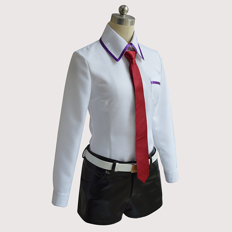 Steins Gate Cosplay Costume Japanese Anime Cosplay Makise Kurisu Cosplay Jacket Coat Outfit Suits Uniform 5