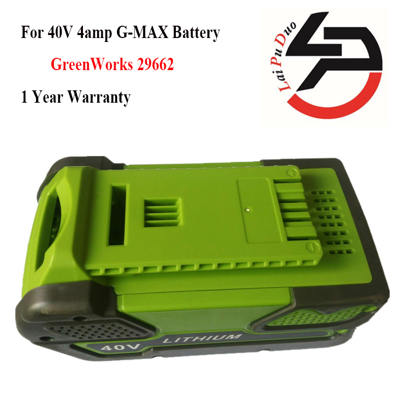 GreenWorks 29662 4AH Li-Ion, 40V 4amp G-MAX Battery 4000mAh