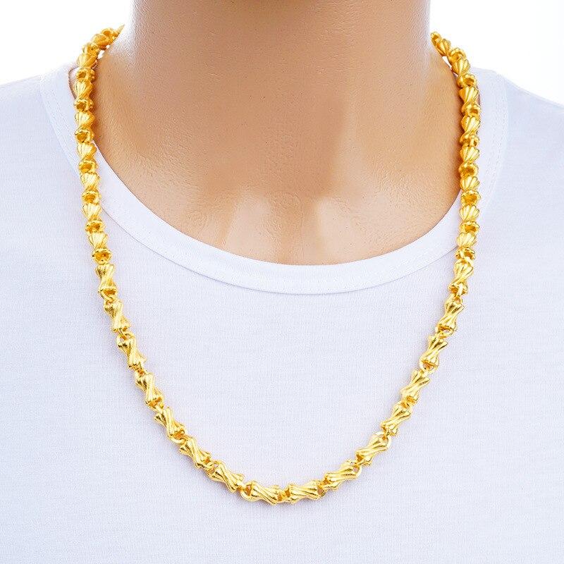 Collier homme femmes bijoux Pulseira masculin fin 24 K or Chunky chaîne lien cou tour de cou à breloque en gros Bileklik pour homme