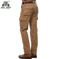 Free shipping NIAN JEEP brand men's long pants size 29 42 with pockets decoration spring and autumn trousers men 100